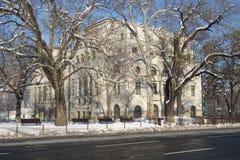 Chambre du bâtiment d'armée en ville de Brasov en Transylvanie, Roumanie Images stock