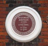 Chambre du ` s de Samuel Johnson Images stock