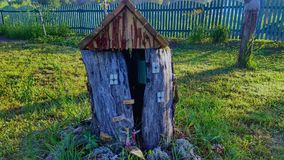 Chambre en bois de ` de fées Photos libres de droits