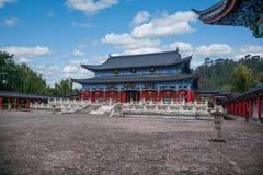 Chambre en bois Lijiang, chambre de Yunnan Images libres de droits