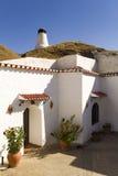 Chambre en caverne à Guadix Photos libres de droits