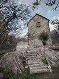 Chambre en pierre dans Theth photo libre de droits