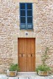 Chambre en pierre de Majorca image libre de droits