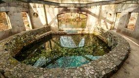 Chambre en pierre ronde de ressort de vallée de paradis - Eagle, WI images stock