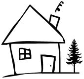 Chambre et arbre Image libre de droits