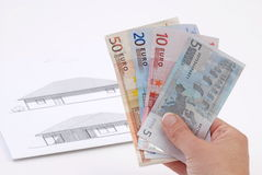 Chambre et argent Image libre de droits