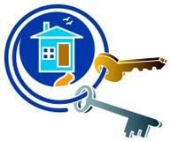 Chambre et logo de clé illustration libre de droits