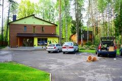 Chambre et nature dans le secteur de Panevezys près du village de Karsakiskis Photo stock