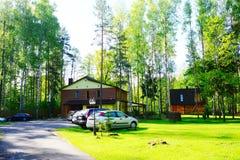 Chambre et nature dans le secteur de Panevezys près du village de Karsakiskis Photos stock