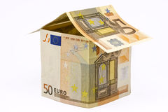 Chambre faite d'euro argent Photo stock