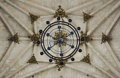 Chambre forte à nervures gothique, monastère de San Juan de los Reyes à Toledo, Espagne images libres de droits