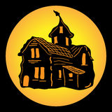 Chambre hantée pour Halloween Photos stock