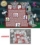 Chambre hantée - labyrinthe pour des enfants (durs) Photos stock
