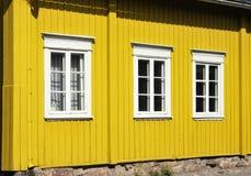Chambre jaune Photo stock