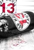 Chambre 13 Lager Beer d'houblon photographie stock libre de droits