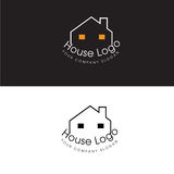 Chambre Logo Real Estate Design Template et icône de Chambre Photographie stock