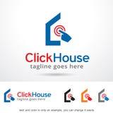 Chambre Logo Template Design Vector de clic Photos libres de droits
