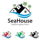 Chambre Logo Template Design Vector de mer illustration de vecteur