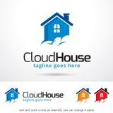 Chambre Logo Template Design Vector de nuage Photo stock