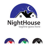 Chambre Logo Template Design Vector de nuit Photo stock