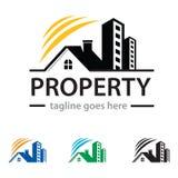 Chambre Logo Template Design Vector de propriété Photographie stock