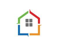 Chambre Logo Template Design Vector, emblème, concept de construction, symbole créatif, icône de couleur Photos stock