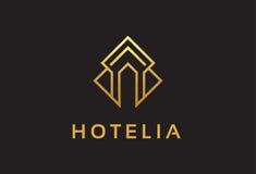 Chambre Logo Template Design Vector, emblème, concept de construction, symbole créatif, icône de monogramme Photo stock