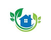 Chambre Logo Template Design Vector, emblème, concept de construction, symbole créatif, icône de nature Image libre de droits