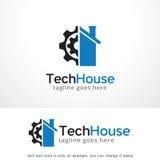 Chambre Logo Template Design Vector, emblème, concept de construction, symbole créatif, icône de technologie illustration stock