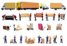 Chambre mobile, bureau mobile Photo stock