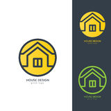 Chambre moderne Logo Design Template Flat Simple Images stock