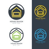 Chambre moderne Logo Design Template Flat Simple Image stock