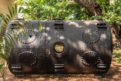 Chambre nette de flottaison de boom simple au musée militaire, Darwin Australia photographie stock libre de droits