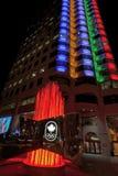 Chambre olympique colorée à Montréal du centre, Canada Photos stock