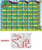 Chambre - paysage de labyrinthe illustration libre de droits