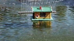 Chambre pour des canards dans la fontaine banque de vidéos