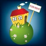 Chambre pour le loyer, vecteur Image stock