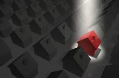 Chambre rouge dans le premier projecteur illustration de vecteur