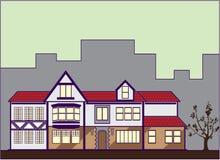 Chambre rouge de toit Photos libres de droits