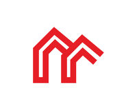Chambre simple Logo Template Design Vector, emblème, concept de construction, symbole créatif, icône Photos libres de droits