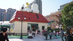 Chambre Snoopy géante en Hong Kong Images libres de droits