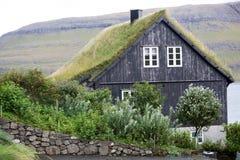 Chambre traditionnelle chez les Iles Féroé photographie stock