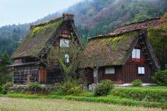 Chambre traditionnelle du Japon dans Shirakawago Photo libre de droits