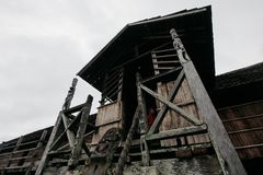 Chambre traditionnelle le Kalimantan Oriental photos libres de droits