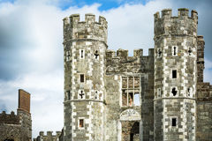 Chambre une de Cowdray de grands Tudor endroits d'Englands près de Midhurst le Sussex images stock