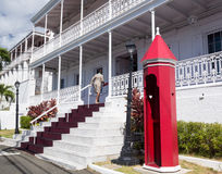 Chambre USA Îles Vierges de gouvernement Photographie stock