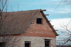 Chambre, vieux ciel de toit de grange Photographie stock