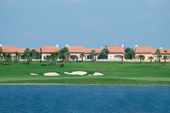 Chambres à un terrain de golf Photographie stock