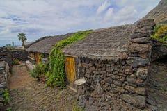 Chambres abandonnées en île d'EL Hierro Images stock