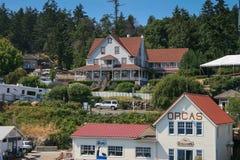 Chambres aux orques île, Washington Images stock